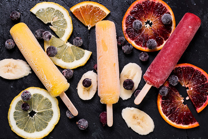 Ice lolly factory in Africa