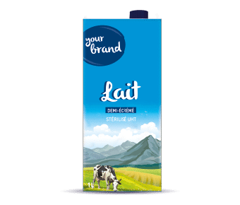 Dairy factory in Africa: pasteurized milk