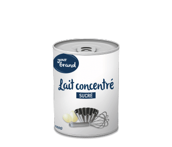 Dairy factory in Africa: condensed milk
